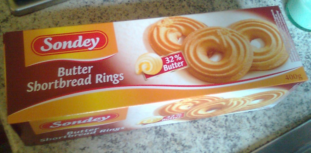 SONDEY Butter Shortbread Rings 32% Butter**